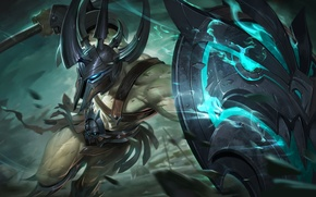 Picture weapons, armor, battle, warrior, art, fantasy, shield, Gladiator
