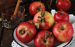 Picture apples, honey, fruit