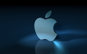 Picture sign, Apple, blue background