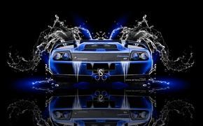 Picture Water, Black, Blue, Lamborghini, Neon, Style, Wallpaper, Background, Car, Blue, Photoshop, Photoshop, Black, Water, Style, …