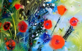 Picture picture, grass, painting, Abstraction, Olga Polishchuk