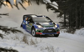Picture Ford, Winter, Snow, Ford, WRC, Rally, Rally, Fiesta, Fiesta, M. Anttila, J. M. Latvala