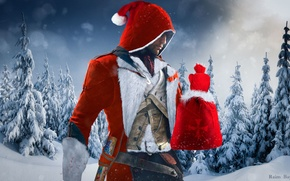 Picture Look, Snow, Light, New year, Hood, Santa Claus, Ubisoft, Assassin's Creed, Cold, Ubisoft Montreal, The …