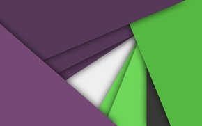Picture line, lilac, geometry, green, android, material