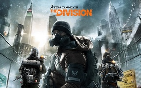 Picture soldiers, gas mask, Tom clancy's, The division