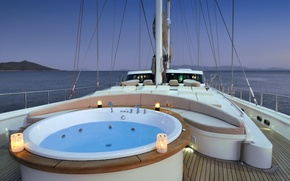 Picture design, style, interior, yacht, Jacuzzi, deck, Suite