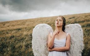 Wallpaper angel, mood, wings, girl
