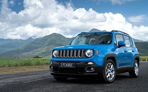 Wallpaper jeep, renegade, mountains, Jeep, the sky, clouds, Renegade