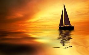 Wallpaper sea, tropics, sail