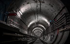 Picture dark, tunnel, metro