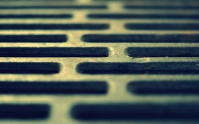 Picture macro, metal, grille, cell
