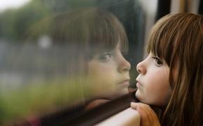 Picture sadness, reflection, children, childhood, girls, Windows, child, beauty, small, girl, beauty, sadness, window, child, reflection, …