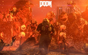 Picture game, demons, DOOM, id software, bethesda softworks, doomguy, dodgy