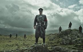 Picture cinema, sake, zombie, rock, undead, sky, military, man, army, eagle, cap, film, bones, commander, pearls, ...