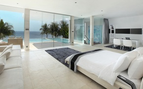 Picture pool, design, style, interior, luxury villa, living space