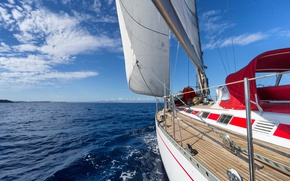 Picture sea, the way, yacht, sail