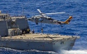 "Picture helicopter, landing, multipurpose, ""Sea Hawk"", Sea Hawk, MH-60S"