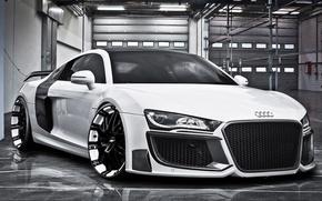 Picture Audi, white, drives, front, kit, bodykit, Regula Tuning, Oxigin Oxrock, Grandiose, R20