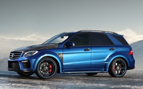 Picture blue, Mercedes, Inferno, Top Car, ML 63AMG