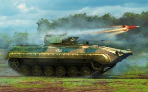 Picture art, painting, tank, PLA ZBD-86B