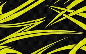 Picture line, black, carbon, texture, Yellow