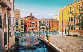 Picture street, building, home, Italy, Venice, channel, the bridge, Italy, bridge, street, Venice, architecture, Italia, Venice, ...