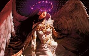 Wallpaper angel, magic, girl, wings