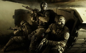 Wallpaper weapons, hot spot, special forces, tank, machines, conflict