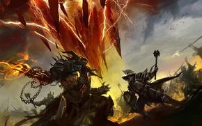 Wallpaper guild wars 2, the game, kekai kotaki, battle
