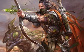 Picture monster, bow, art, headband, arrow, male, Archer, legend of the cryptids