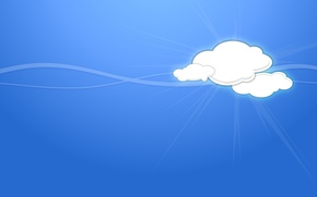 Picture clouds, line, minimalism, vector