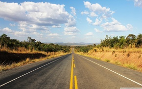 Picture road, clouds, Brasil, mountais, BR101
