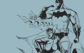 Wallpaper minimalism, vector, Batman