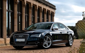 Picture Audi, Machine, Black, Car, Car, Black, Wallpapers, Beautiful, Wallpaper, UK-Spec, Audi S8