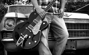 Picture machine, music, guitar, guitar, cadillac, Cadillac, FEET, hollowbody, gretsch, bigsby, gretch