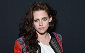 Picture background, model, portrait, makeup, actress, brunette, hairstyle, photographer, Kristen Stewart, Kristen Stewart, USA Today, Neale ...