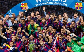Picture wallpaper, sport, football, FC Barcelona, UEFA Champions League Winners