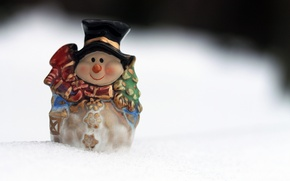 Picture snow, new year, snowman, figure