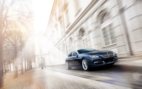Picture street, speed, car, BMW Alpina B6