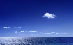 Wallpaper sea, cloud, horizon