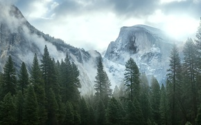 Picture Nature, Mountains, Trees, CA, USA, Yosemite, Nevada, Sierra