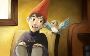 Picture bird, boy, art, Beatrice, Host, Wirth, Over the Garden Wall, Yangyexin