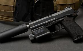 Picture Germany, muffler, USP, self-loading pistol, Heckler&Koch, 9SD