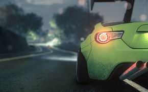 Picture green, need for speed, subaru, brz, sport car