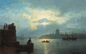 Picture picture, Moonlit night on the Neva, Lagorio