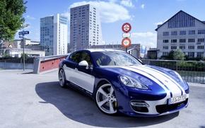 Picture photo, Porsche, Tuning, Blue, Car, Gemballa, 2015, GTP 720
