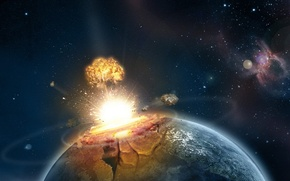 Picture planet, disaster, The explosion