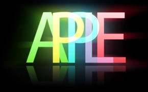 Wallpaper minimalism, Apple, brand, black, background, apple, emblem