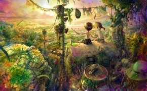 Picture dreams, children, childhood, fantasy