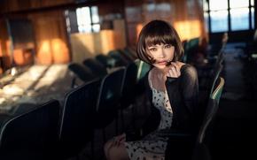 Picture girl, cinema, Maxim Guselnikov, Karina Kim, Disconnected